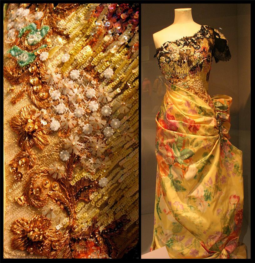 Вышивки на платьях шелком