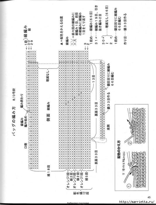 Корзинка и сумки крючком из полиэтиленовых пакетов (42) (534x700, 214Kb)