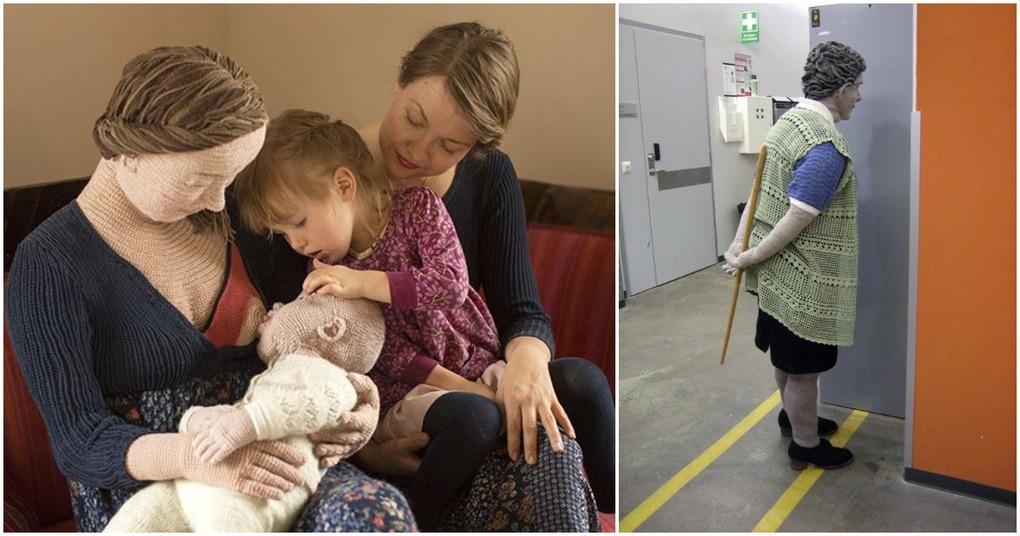 Финская художница создает настоящих вязаных людей