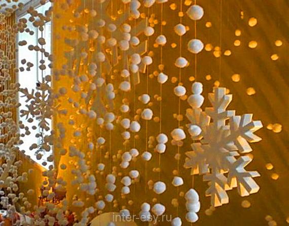 Новогоднее украшение окон своими руками фото
