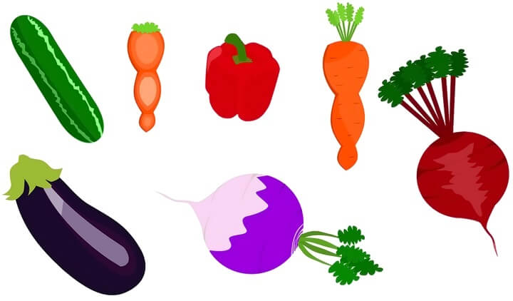 Трафареты овощей