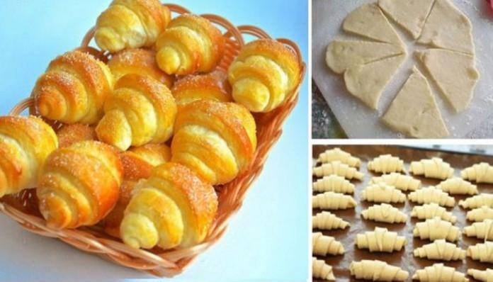 Рецепт дня: сладкие рогалики из обалденно вкусного теста!