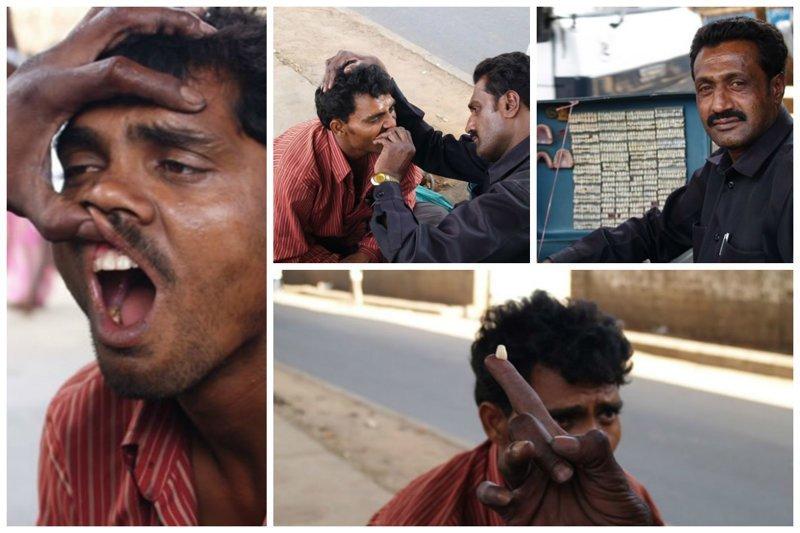 На улице можно встретить уличных дантистов funny foto, индия, интересно, смешно, юмор