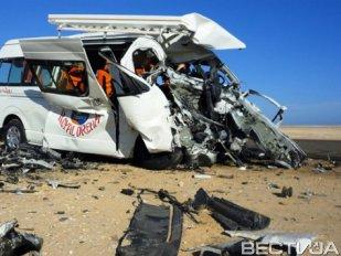 В Египте столкнулись автобусы с туристами, есть жертвы