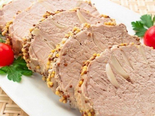Свинина с чесноком в фольге