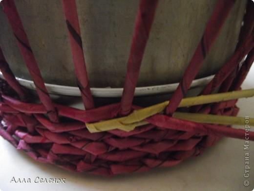 Поделка, изделие Плетение: МК.КАШПО. Бумага газетная. Фото 7