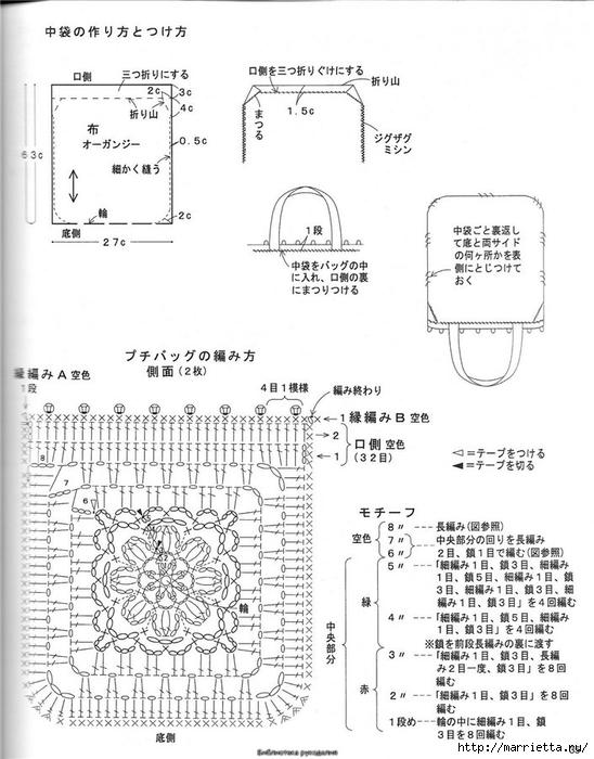 Корзинка и сумки крючком из полиэтиленовых пакетов (32) (548x700, 219Kb)