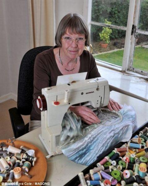 Самые необычные виды рукоделия 4!!! Она вышивает фотографии!!!