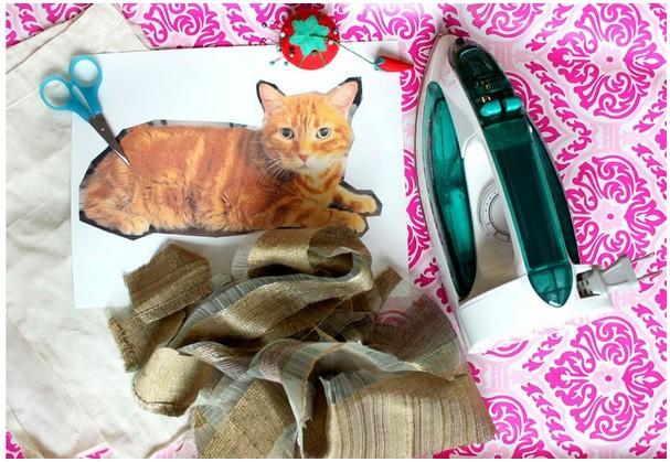 Как сделать подушку кошку