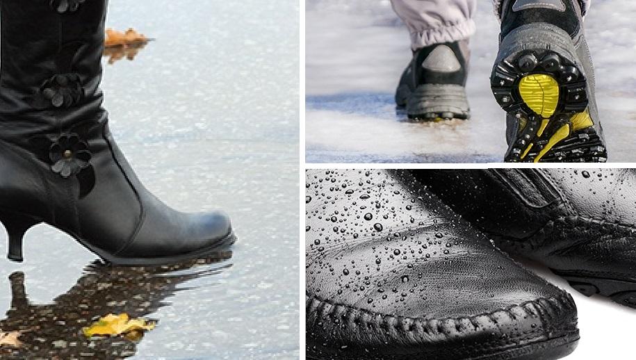 Чтобы ноги оставались сухими. Делаем обувь непромокаемой