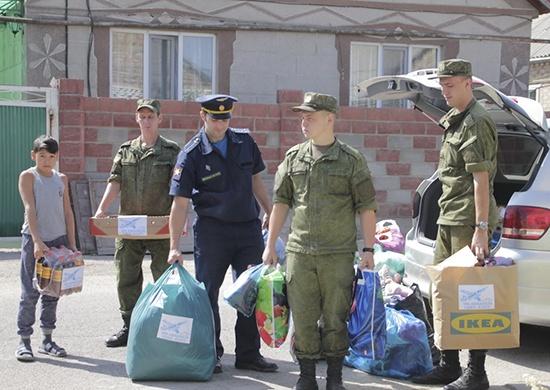 Военные савиабазы «Кант» передали гуманитарную помощь вдетдома Киргизии