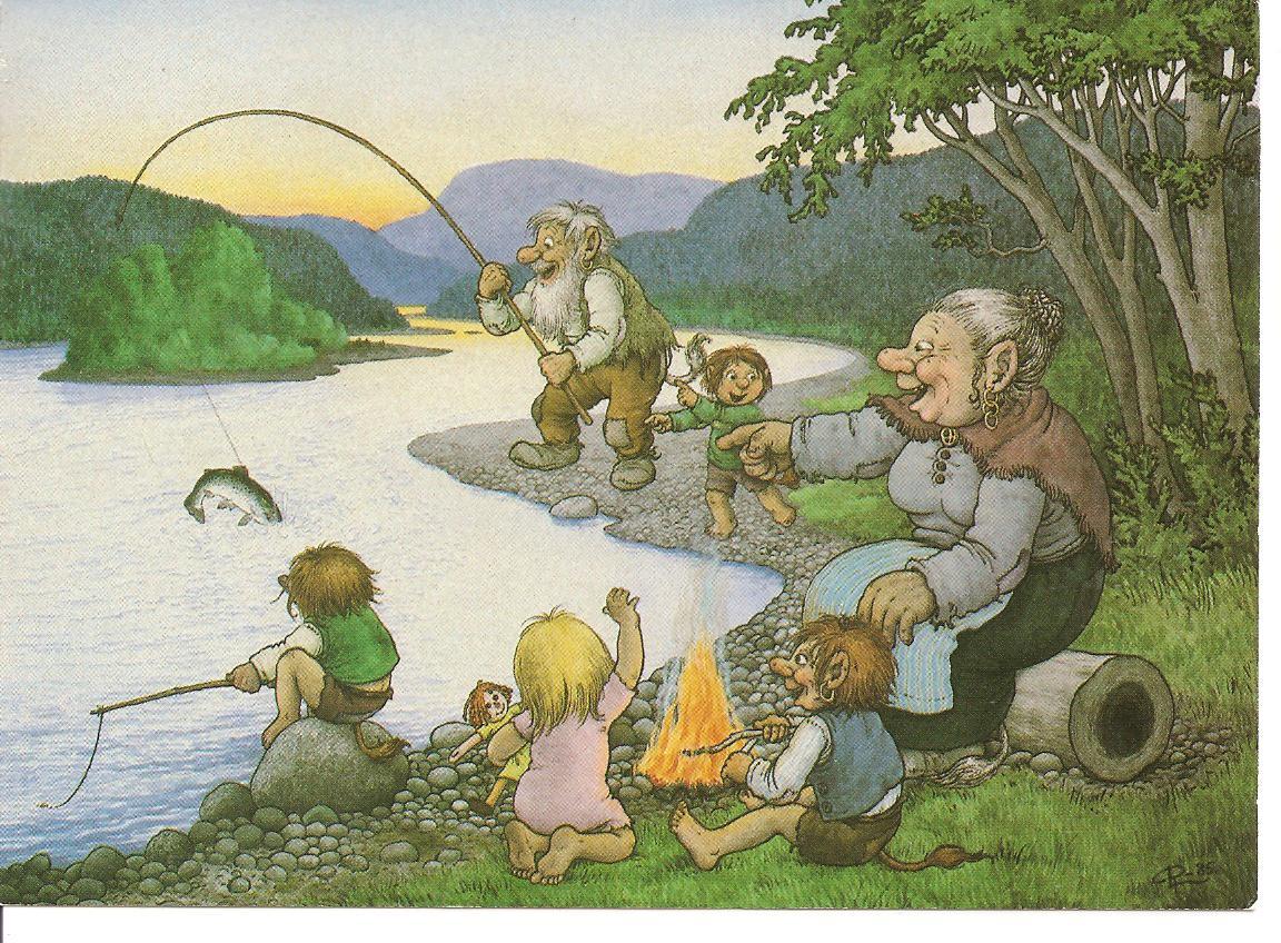 картинка старик ловит рыбу
