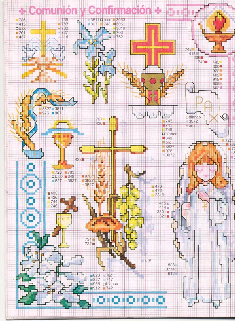 Схема для вышивки крестильного полотенца