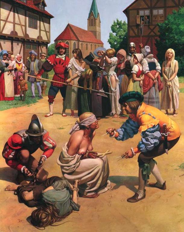 Издевательства инквизицией над девушками фото