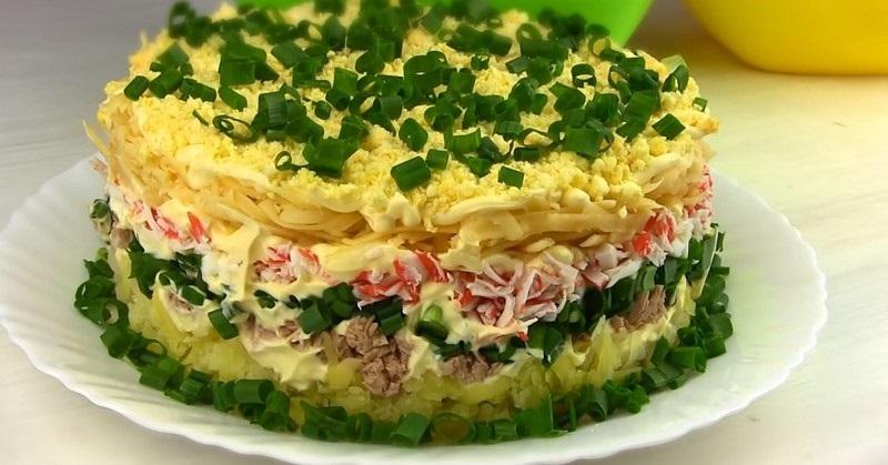простой и вкусный салат с тунцом