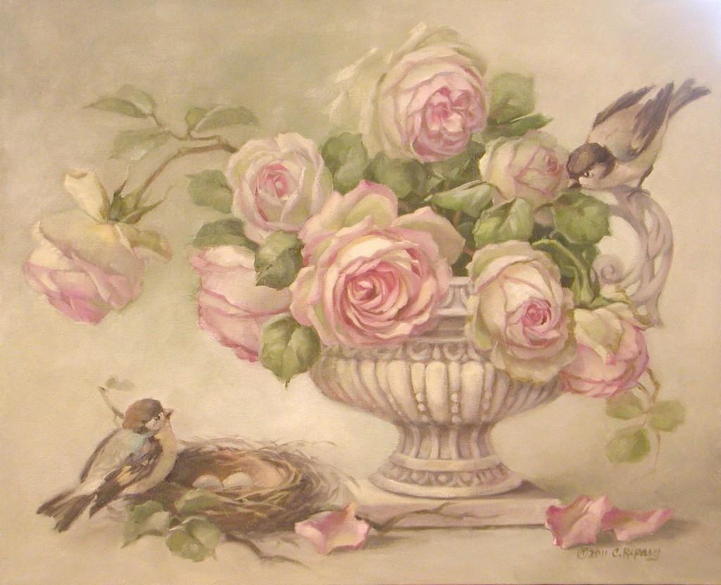 Mi baul del decoupage vintage birds ii - Wandbilder landhausstil ...