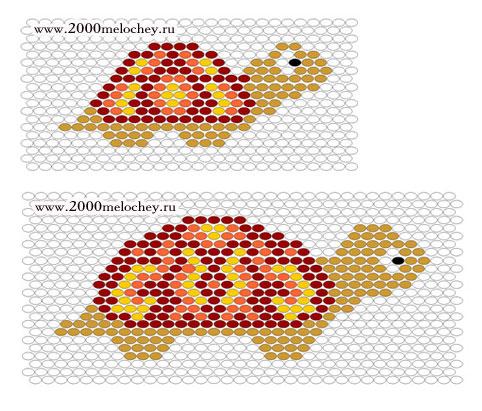 Схема бисера плетения черепахи