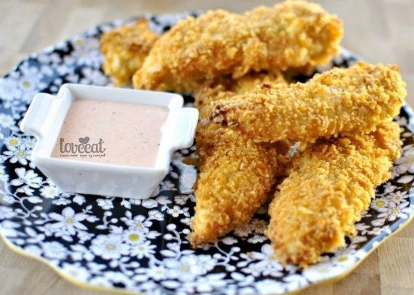 Куриные пальчики в картофельных чипсах
