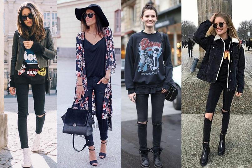 5 вариантов нескучных и стильных total black образов
