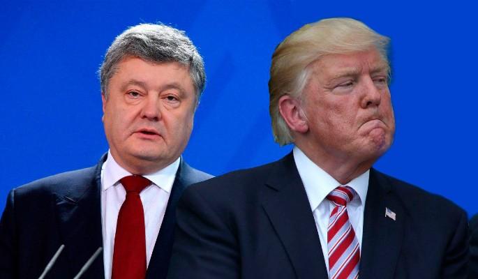 Раздраженный Трамп сбежал от пьяного Порошенко