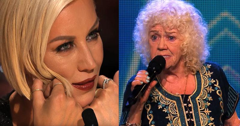 Судьи скептически отнеслись к 81-летней конкурсантке. Но как только бабуля запела, сразу же прошла в финал!