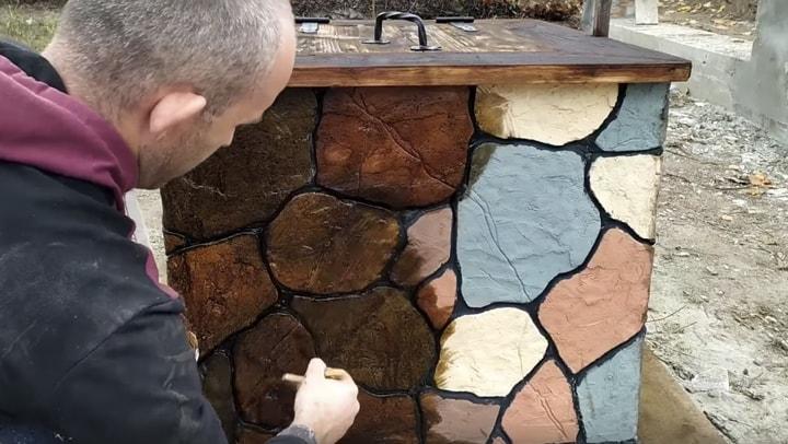 Шикарный декоративный камень из простого плиточного клея