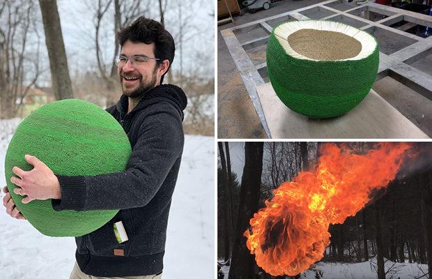 Зелёный шар из 42 тысяч спич…