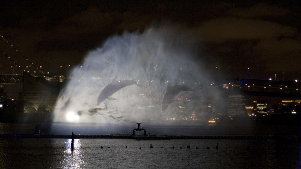 Водная иллюминация в Токио