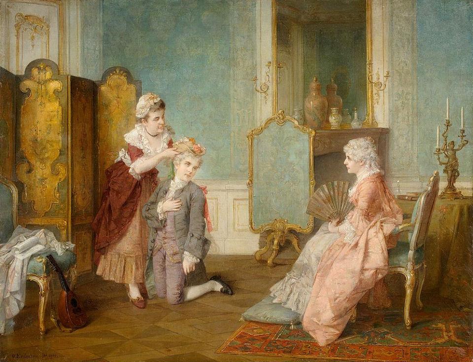 Изящный век. Немецкий художник Отто Вильгельм Эдуард Эрдманн (1834-1905)