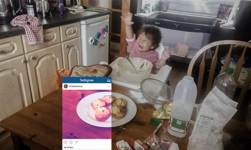 Обратная сторона красивых фотографий еды в Instagram