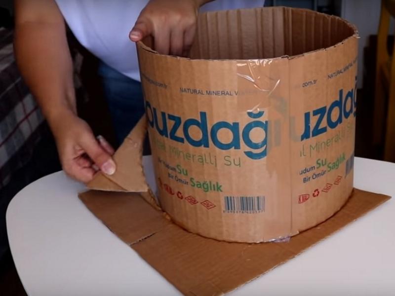 как сделать большую корзину своими руками