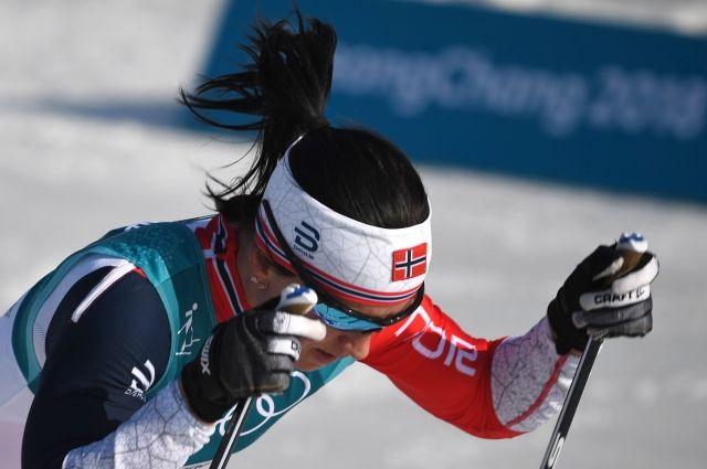 Норвежская лыжница Бьорген получила«последнее» золото Олимпиады в Пхенчане