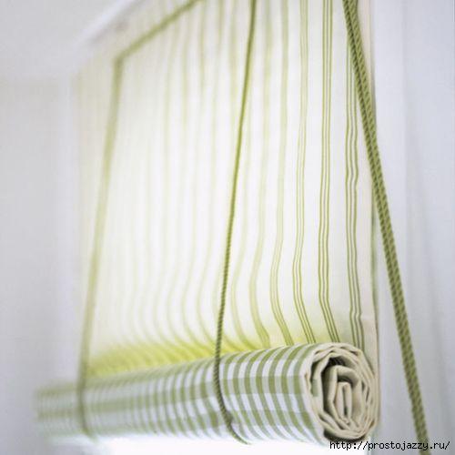 Рулонная штора своими руками - очень просто