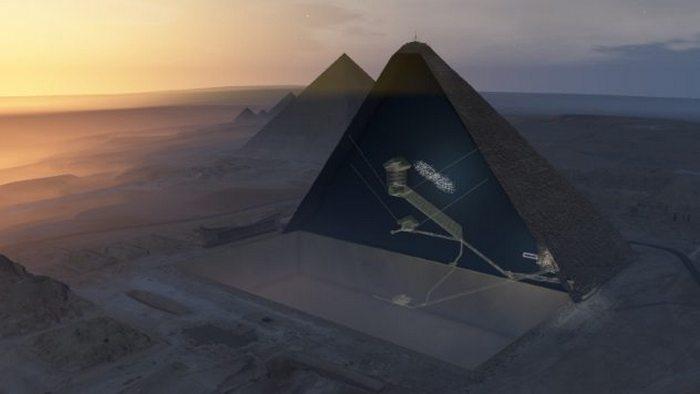 Скрытая камера в пирамиде Хеопса.