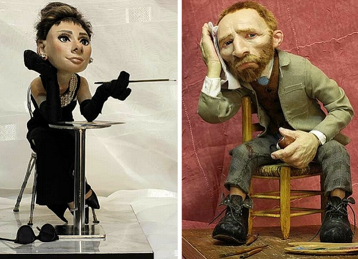 Великолепные миниатюрные копии известных людей, созданные художником Волеговым