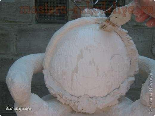 Мастер-класс: Как сделать скульптуру Колобок на пеньке