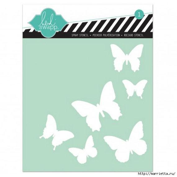 Порхающие бабочки в интерьере. Трафареты для стен и потолка (34) (570x570, 75Kb)