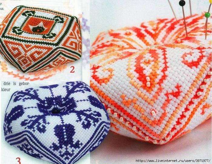 3 схемы для вышивки крестом бискорню в индийском стиле