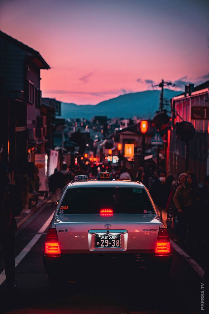 Красочный японский город Киото