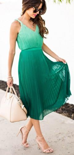 Плиссированное платье фото