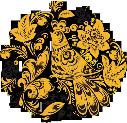 Рисование/русская роспись/Хохлома/композиции на прозрачном фоне
