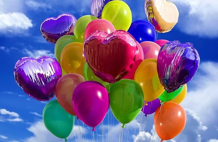 Варианты наполнения шаров к празднику