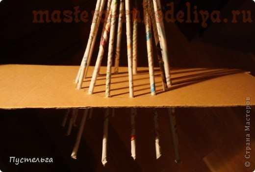 Мастер-класс по плетению из газет: Дуб