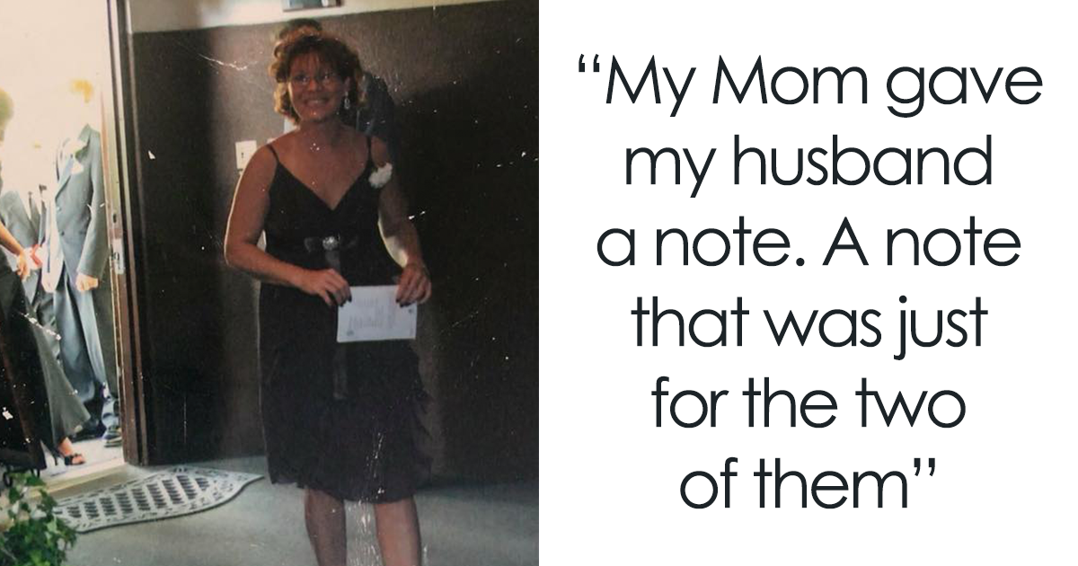 Husband Reveals A Secret Note His Wife's Mother Gave Him On Their Wedding Day, And It May Make You Cry