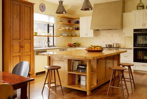 Угловые полки на кухне