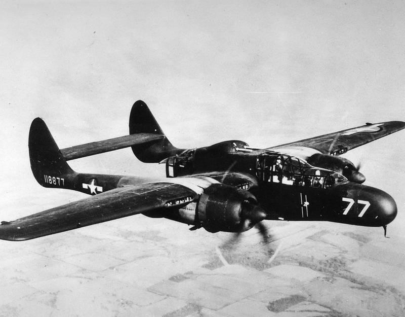 Northrop P-61 Black Widow: первый американский специализированный ночной истребитель