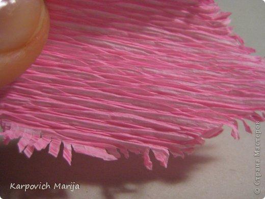 Мастер-класс Свит-дизайн День рождения Бумагопластика МК бархатных тюльпанов и Двухцветный стиль Бумага гофрированная Бусинки Продукты пищевые фото 11