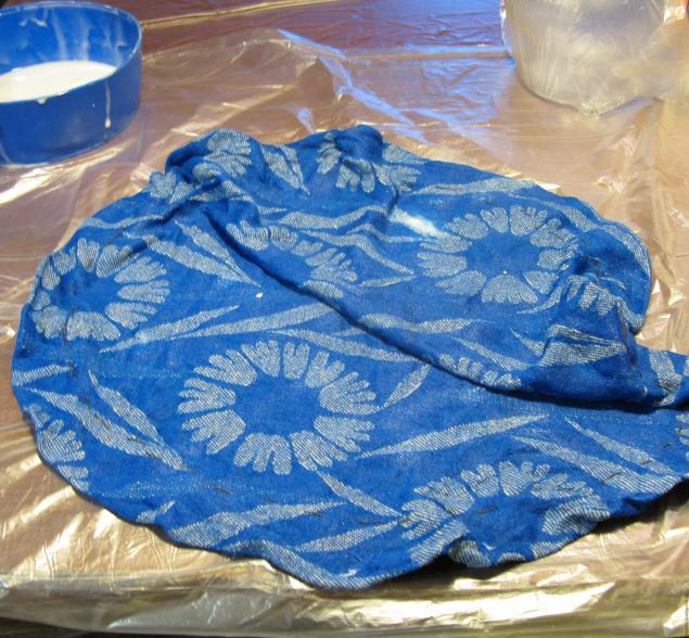 Цветочный горшок из ткани