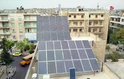 В Алеппо возобновили производство солнечных батарей