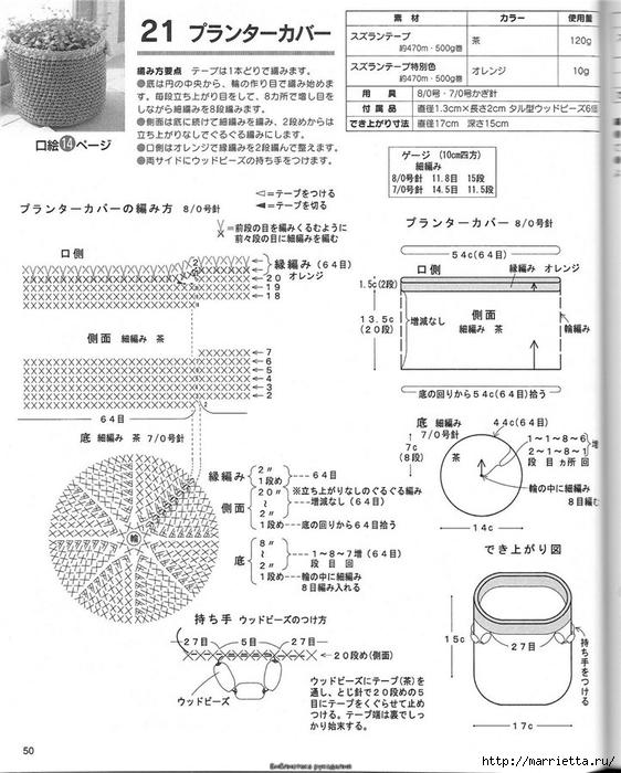 Корзинка и сумки крючком из полиэтиленовых пакетов (47) (562x700, 252Kb)